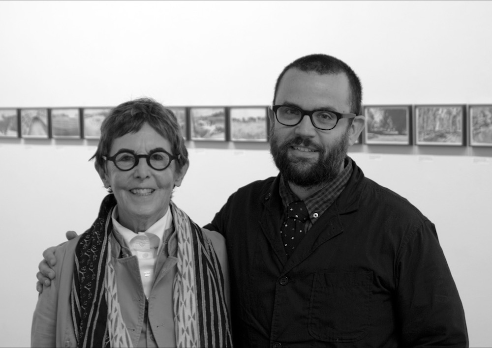Barbara Krakow and Andrew Witkin pose in their gallery Krakow Witkin Gallery