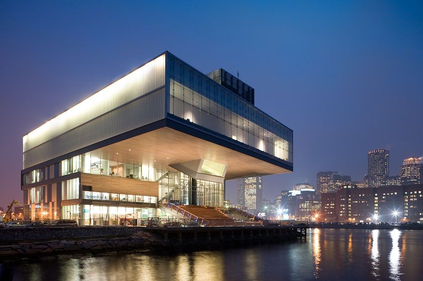 Exterior of ICA at night