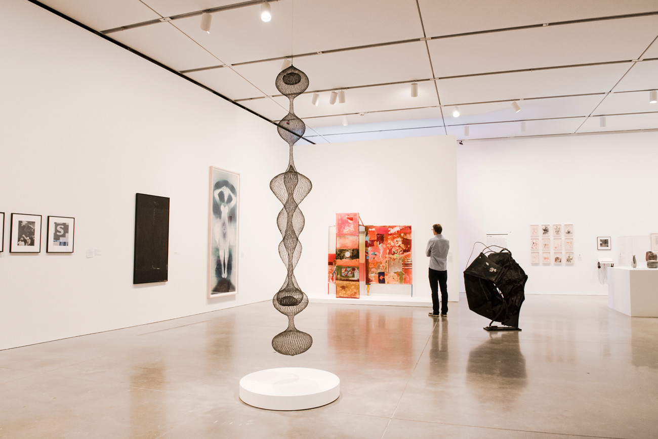 Installation view, Leap Before You Look: Black Mountain College 1933–1957