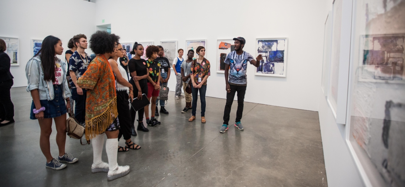 ICA Teens participate in a gallery activity during the 2015 Teen Convening