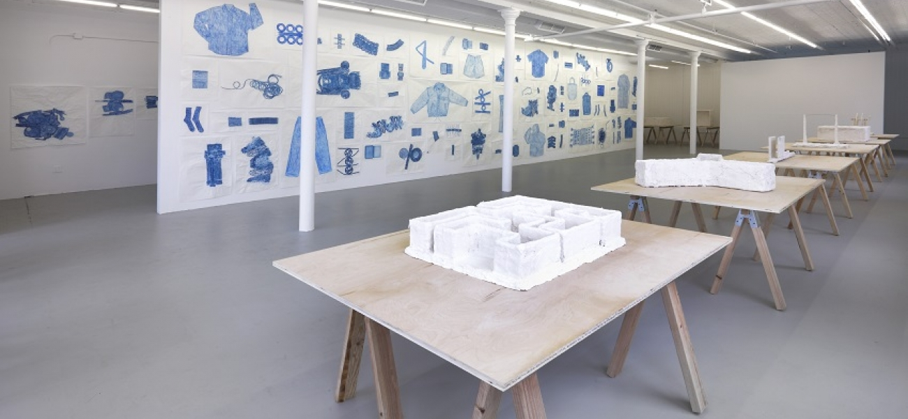 Installation view, Jennifer Bornstein: New Rubbing & Psychological Tests, Gavin Brown's enterprise,