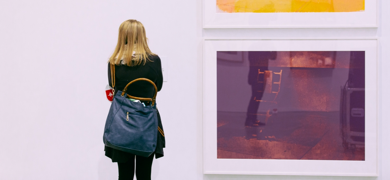 Visitor with Warhol