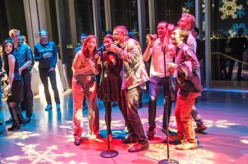 People singing kareoke at the ICA