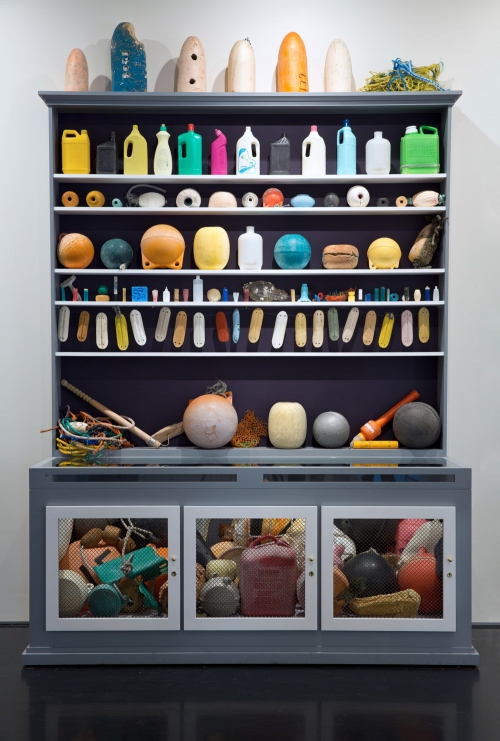Mark Dion, Cabinet of Marine Debris, 2014