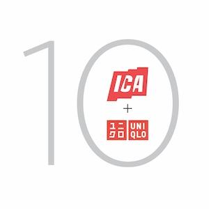UNIQLO + ICA 10 logo