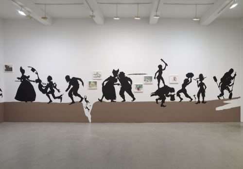 Kara Walker, The Nigger Huck Finn Pursues Happiness Beyond the Narrow Constraints of your Overdetermined Thesis on Freedom - Drawn and Quartered by Mister Kara Walkerberry, with Condolences to The Authors, 2010