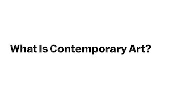 "Logo for ""What Is Contemporary Art?"""