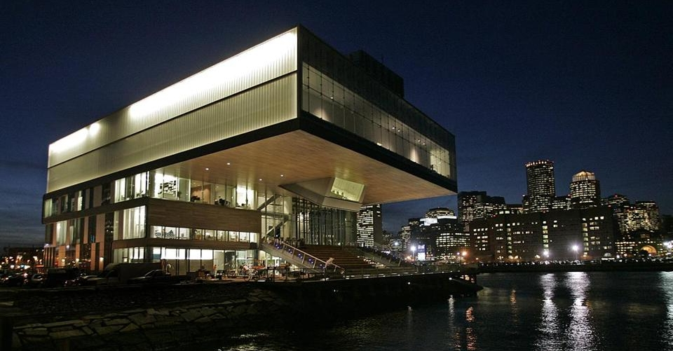 ICA Building at night