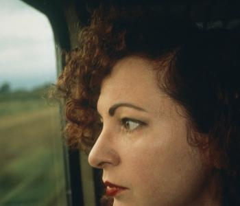Nan Goldin, Self-Portrait on the Train, Germany, 1992