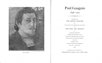 Gauguin catalogue cover, 1936