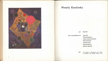 Wassily Kandinsky Catalogue Cover, 1952