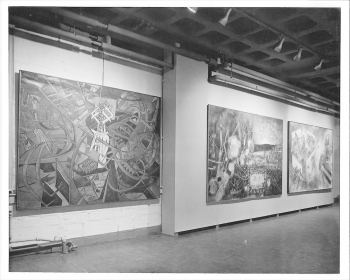 Installation view of Matta