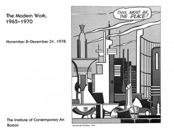 Catalogue for Roy Lichtenstein: The Modern Work