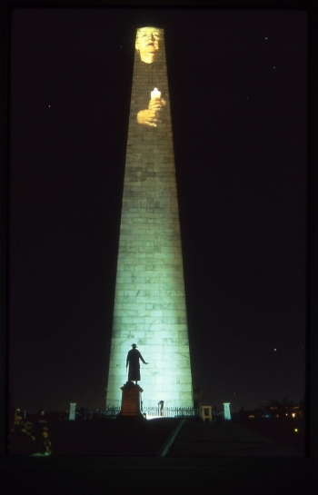 Bunker Hill Monument Projection, 1998