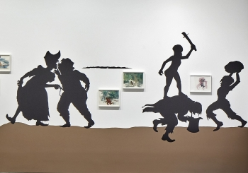 Installation view, First Light: A Decade of Collecting at the ICA, The Institute of Contemporary Art/Boston, 2016-17. Photo by Charles Mayer Photography. © 2016 Kara Walker