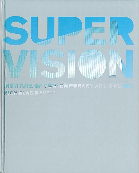 Cover of Super Vision. A gray book with blue text.
