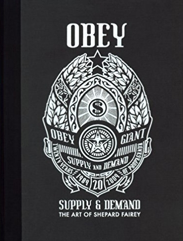 The black and white cover of OBEY.