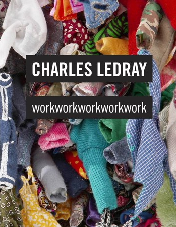 THe cover of Charles Ledray workworkworkwork with a closeup of his sculpture and the book's title.