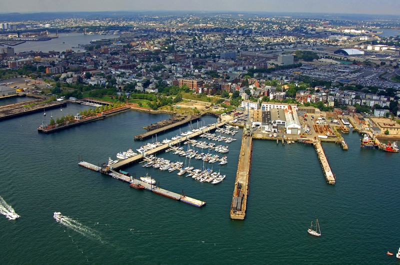An aerial view of East Boston.