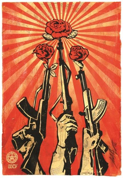 """Shepard Fairey """"Guns and Roses,"""" 2006"""