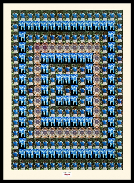 Gilbert & George, Sky Blue World, 1989