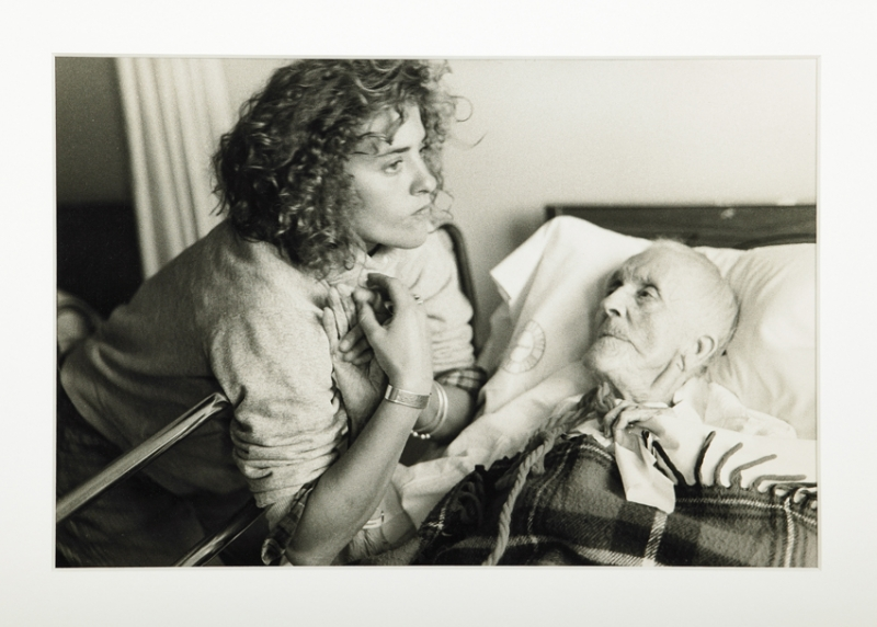 "Nan Goldin's ""Chrissy with her 100-year-old grandmother, Provincetown"""
