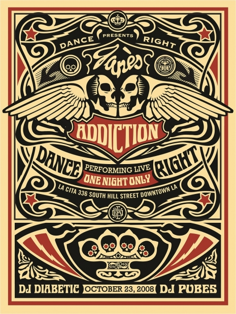 "Shepard Fairey ""Jane's Addiction,"" 2008"