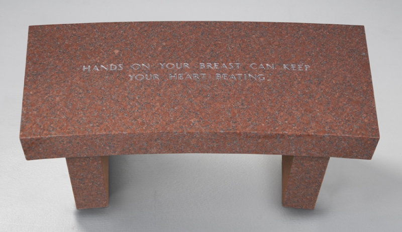 Jenny Holzer Hands on Your Breast Can Keep Your Heart Beating, from the Survival Series, 1989