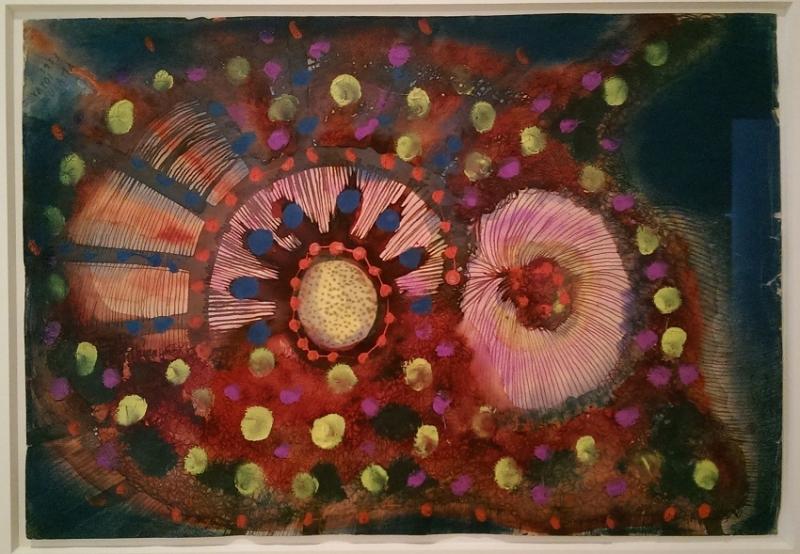 """Yayoi Kusama """"A Flower (No. 14),"""" 1953"""