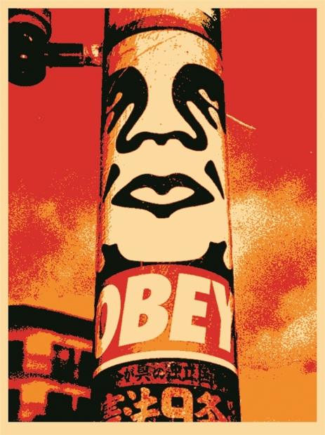 "Shepard Fairey ""Obey Pole,"" 2001"