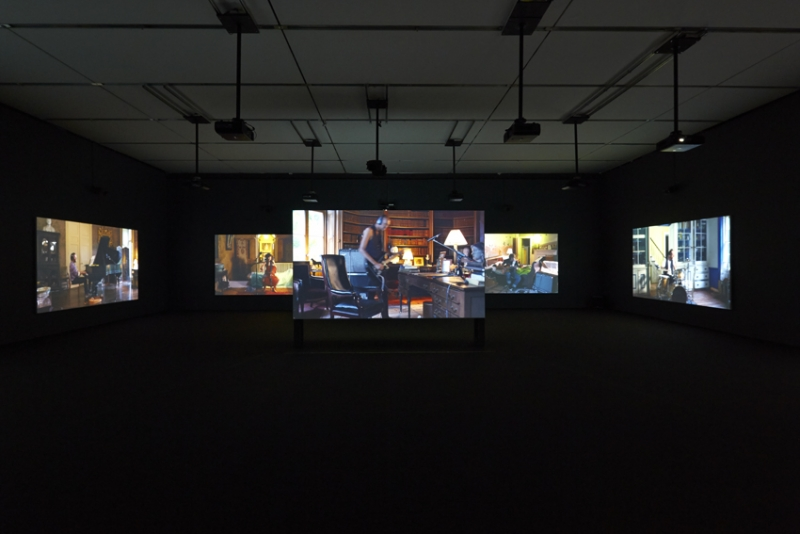 Installation view, Ragnar Kjartansson: The Visitors, the Institute of Contemporary Art/Boston, 2014.