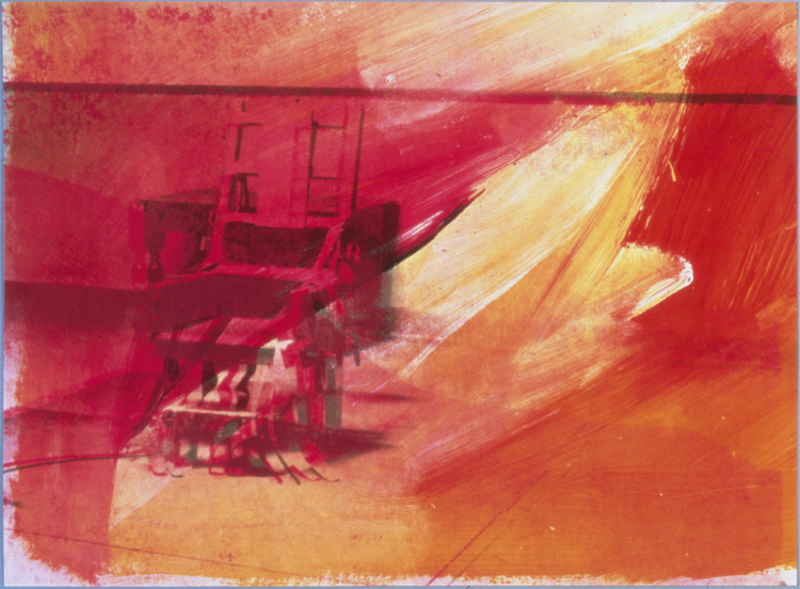 """Andy Warhol, """"Electric Chair (detail),"""" 1971"""
