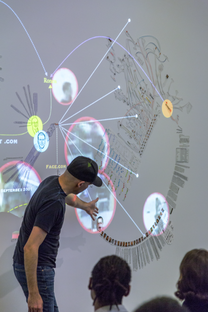 Walid Raad, Scratching on Things I Could Disavow: Walkthrough, Institute of Contemporary Art, Boston, 2016. Photo by John Kennard.