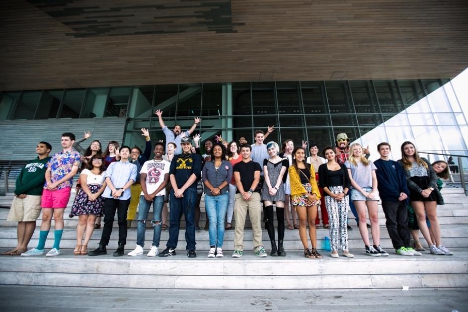 Group shot of teens at 2014 ICA Teen Convening