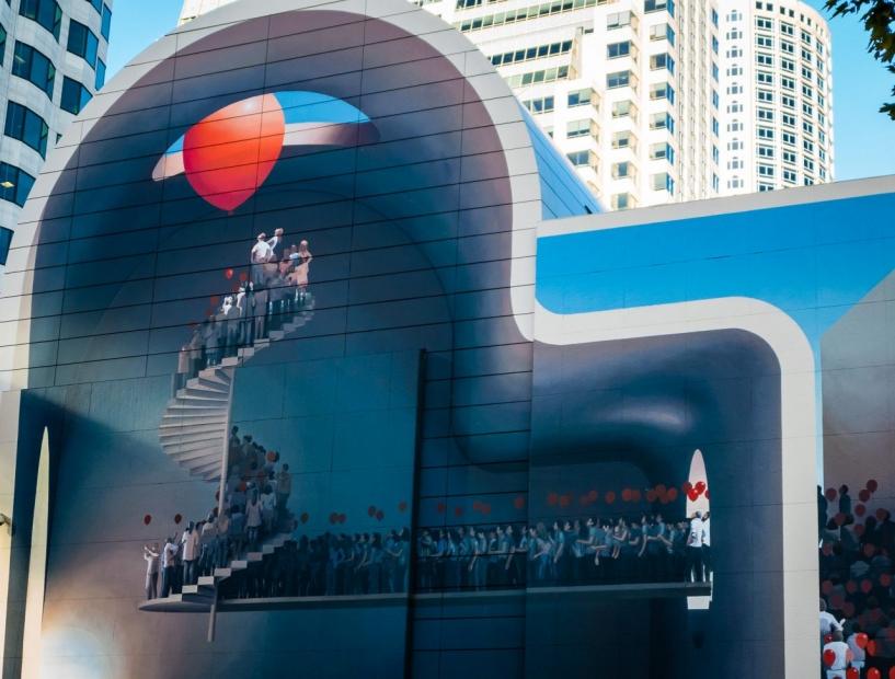 """Mehdi Ghadyanloo's mural """"Spaces of Hope"""""""