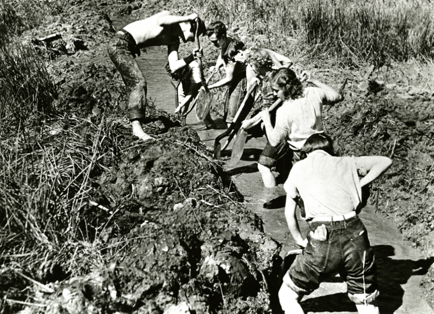 Black Mountain College, Student Ditch Digging