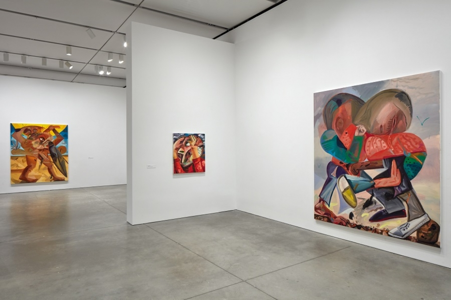 Installation view, Dana Schutz, The Institute of Contemporary Art/Boston, 2017