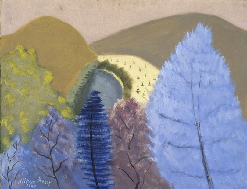 Milton Avery, Blue Trees, 1945.