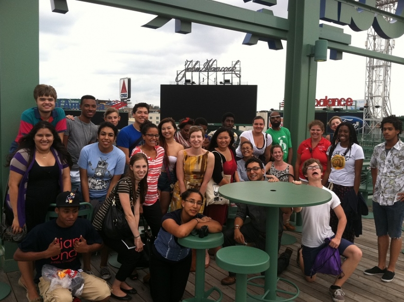 Teens and educators from 2012 ICA Teen Convening at Fenway Park