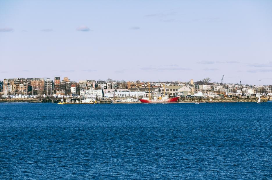 View of Boston Harbor