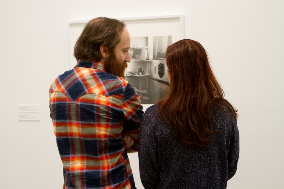 Couple in ICA galleries.
