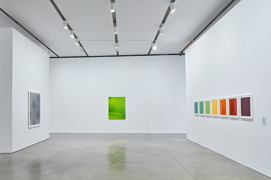 Installation view of Liz Deschenes exhibition