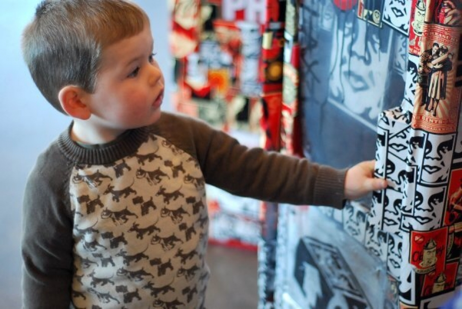 Exploring at a Play Date during the 2009 Shepard Fairey exhibition