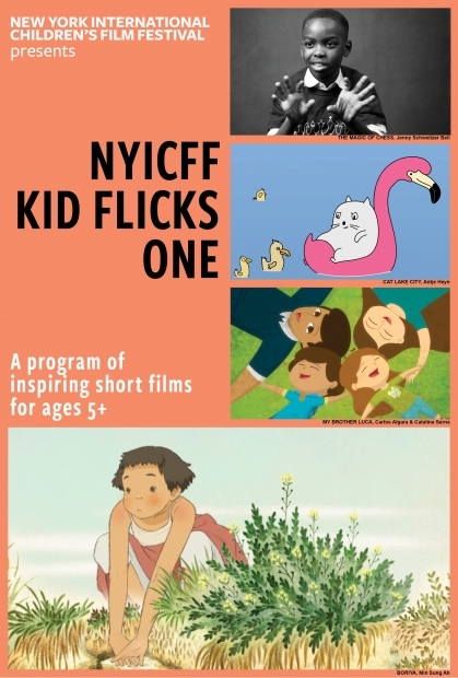 A film poster with stills from various short films