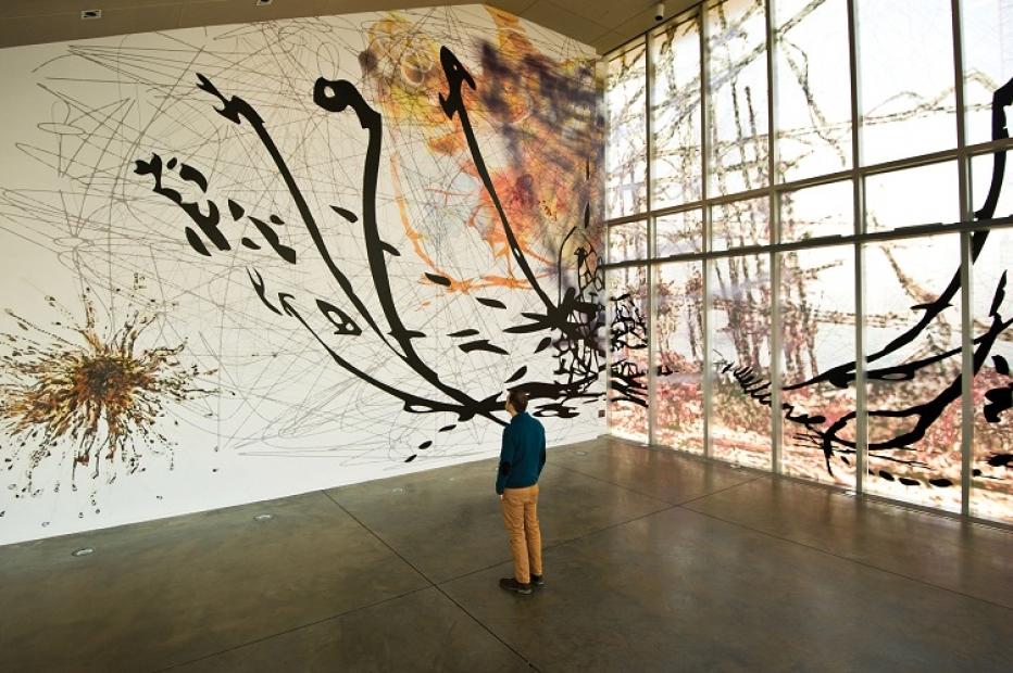 Matthew Ritchie, art wall