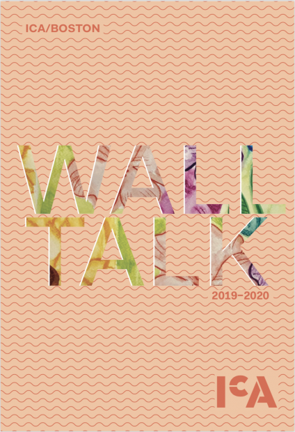 "Publication cover reading ""WallTalk 2012-2020"" on a peach background with darker peach squiggly lines."