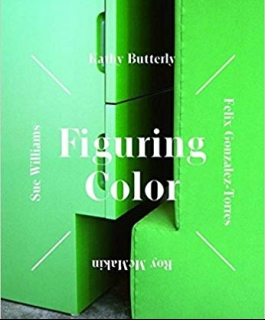 Figuring Color book cover with a green sculpture and the exhibition title.