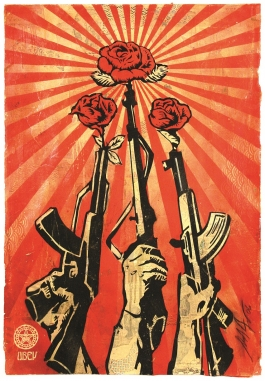"Shepard Fairey ""Guns and Roses,"" 2006"