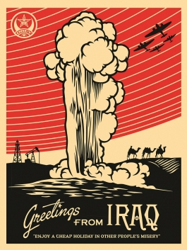 "Shepard Fairey ""Greetings from Iraq,"" 2005"