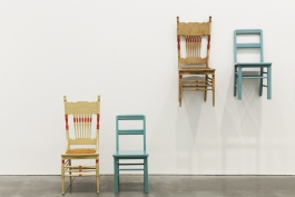 Roy McMakin, Use/Used (two chairs I bought in New Bedford while visiting the Bloomberg/Farrell family)